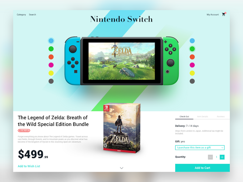 Single Product Page Reimagined interface simple checkout webpage product dailyui