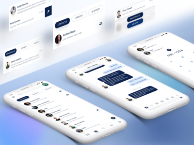 Message App Concept iphone x simple clean interface message