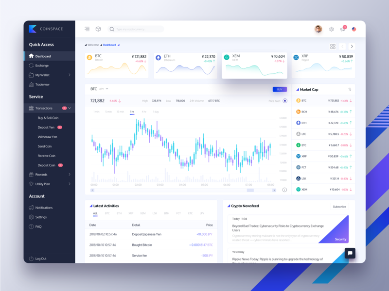 Cryptocurrency Dashboard Redesign (Free Download) free sketch freebie bitcoin dashboard ui dashboard design homepage dashboard website web design cryptocurrency exchange cryptocurrency crypto wallet crypto exchange crypto trading crypto