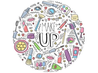 Make up doodle logo