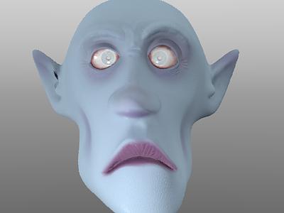 Vampire WIP character 3d vampire