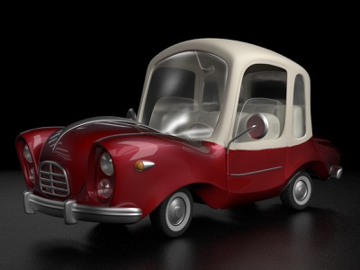 Red_one_final cartoon car illustration 3d zbrush modo character design