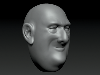 WIP - Old and Fat character design zbrush