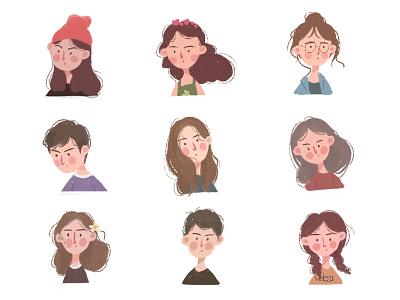 portrait illustrations portrait illustrations illustration design draw