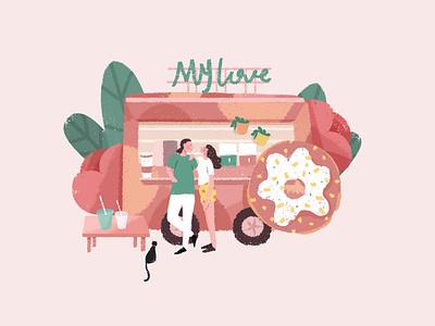 Illustration flower love branding design illustration draw