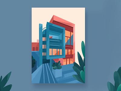 Illustration architecture illustration design draw