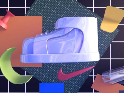 shoe C4D practice show character shoe c4d design draw