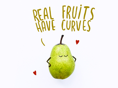 Real fruits have curves market supermarket fruit curve