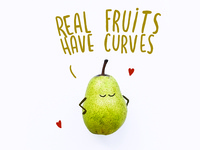 Real fruits have curves