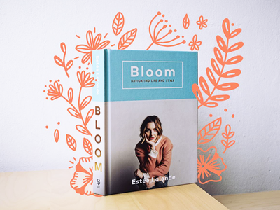 Book in bloom botanical mixed media doodle