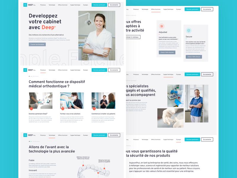 DEEP(Pro) Homepage orange blue professional technology menu dentist dental orthodontist homepage brand design design ui ux web design