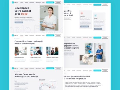 DEEP(Pro) Homepage orange blue professional technology menu dentist dental orthodontist homepage brand design design ui ux web design