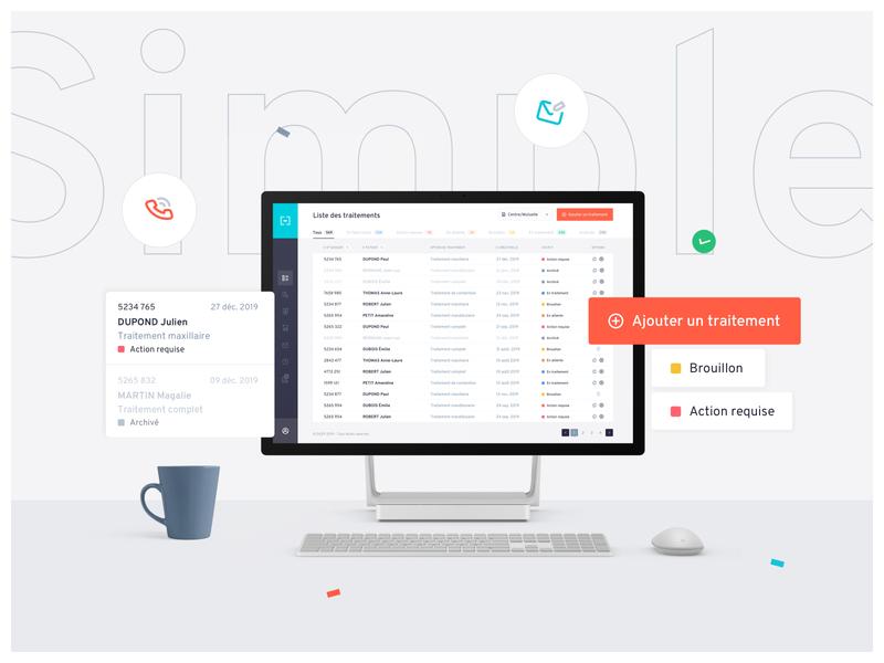 DEEP Application button tags menubar list ambiance icons inspiration application web design ux ui design