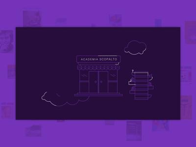 Academia Scopalto Video mediatheques resource cultural academia branding inspiration purple magazine libraries digital brand design video design