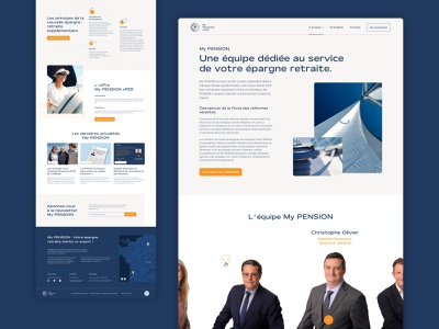 My PENSION xPER Website article footer icons team homepage brand design website inspiration web design design ux ui