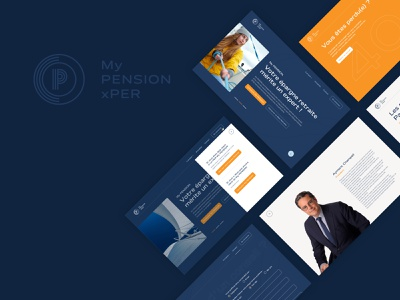 My PENSION xPER Site web profile menu agency inspiration retirement homepage contact website 404 login logo web design ux ui design