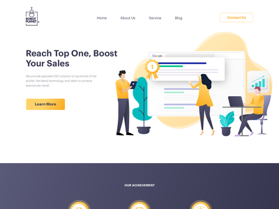 Home page design for Search engine optimization agency uidesign search engine optimizing seo illustration