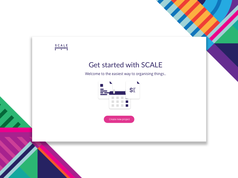 Scale -Add Project first screen measure project management add illustration new project scale add project