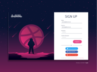 Dribbble Sign Up