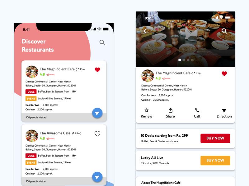 Discover Restaurant bookmark cafe user interface dining restaurants food discover restaurants