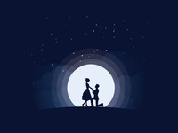 Proposing under moon light