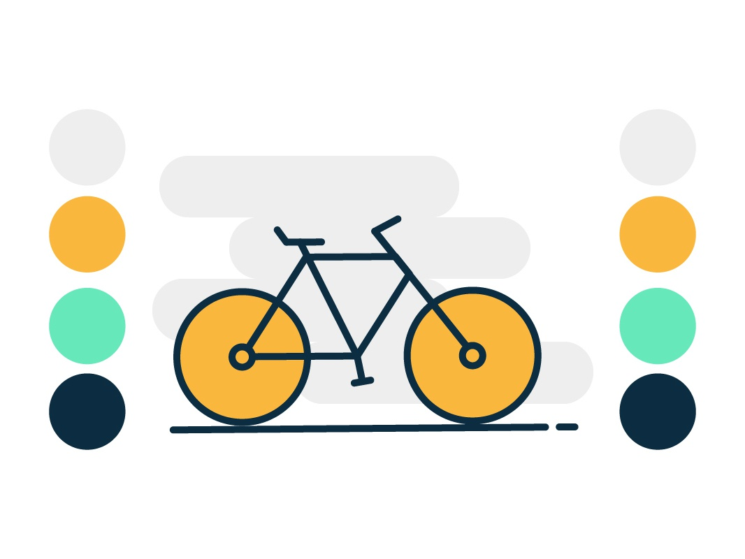 Flat cycle design illustrations daily challange colors illustration vector cycles cycle