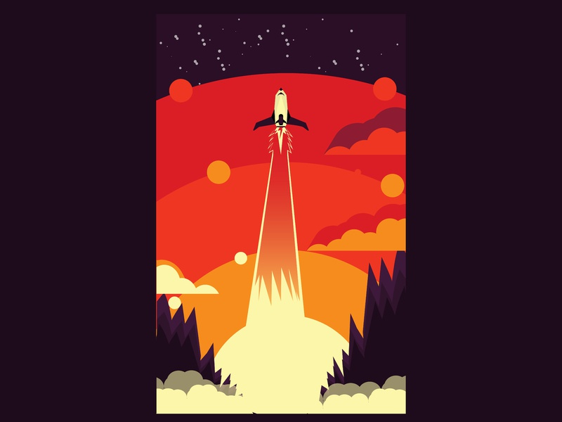 ROCKETRY daily challange digital art illustrations vector illustration design flatdesign rocketry rocket