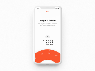 Weight setting — Calie mobile app