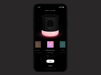Lullaby selection — Withings Home Security Camera
