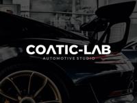 CoaticLab Automotive Studio Logo branding and identity branding design logos logodesign logotype typography logo typogaphy automotive logo auto detailing automotive branding logo design type logo