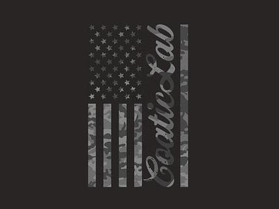 American Flag Tee - CoaticLab Graphic Tee camo graphic graphic art graphic design logo design flag america dark black tee shirt design tee shirts t shirts t shirt designer t shirt art graphic tees t shirt design shirt design tee shirt t shirt graphic tee