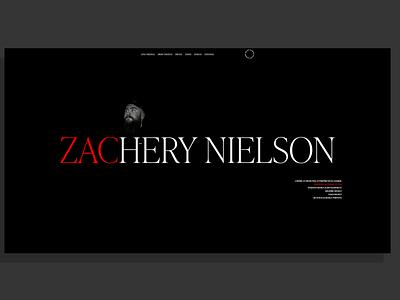ZacNielson.com | Designer Portfolio & Personal Website portfolio site semplice animation website design portfolio website personal site portfolio design portfolio dark mode black dark adobe xd typography interface minimal website web design ux ui