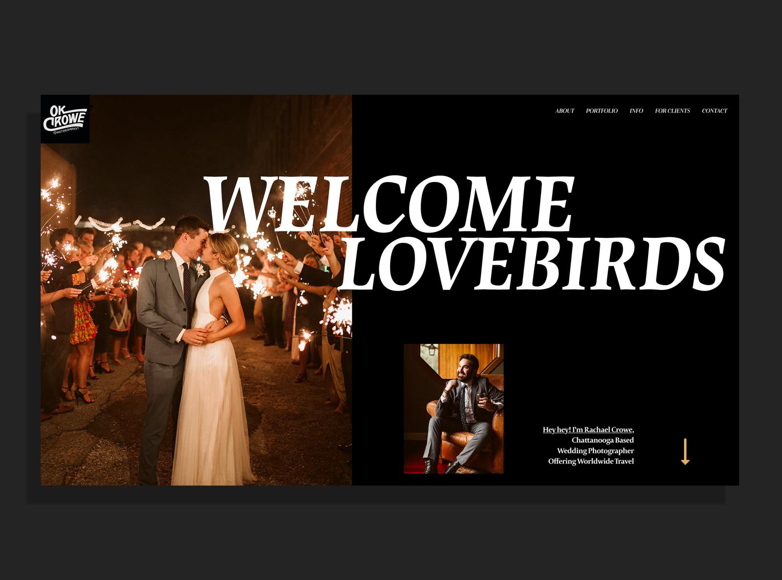 OkCrowe.com | Wedding Photographer Website | OkCrowe Photography