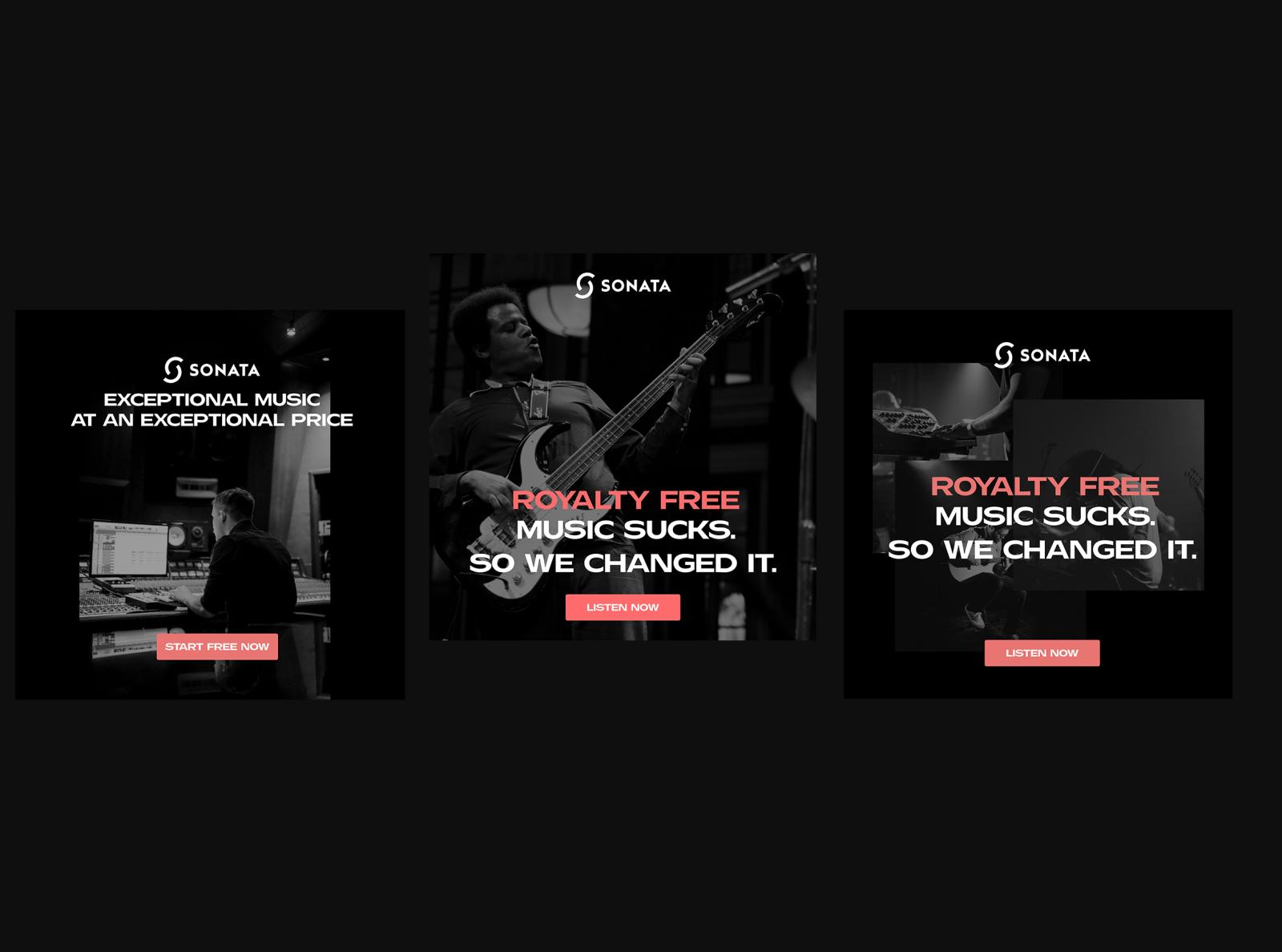 Digital Advertising Graphics | Sonata Facebook Ads Campaign