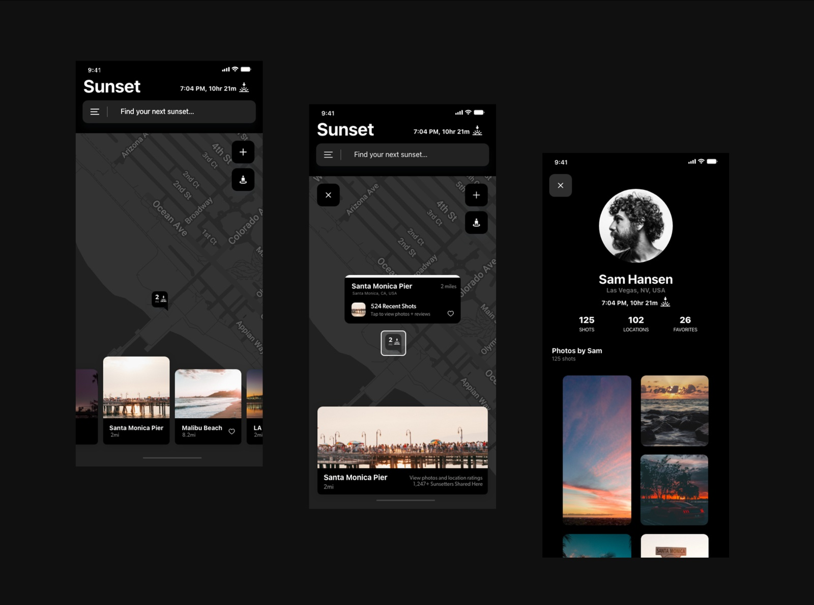 SunnySpot iPhone App | Photography Location Finder | Mobile App