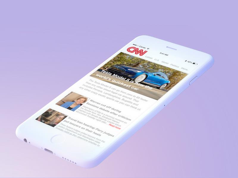 CNN App Concept news app news cnn iphone user interface ux ui app design apps app ios