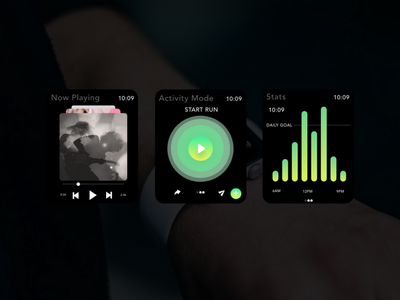 Apple Watch Music Player - Adobe Live Stream adobe xd adobe xd small screen smartwatch interface ux ui