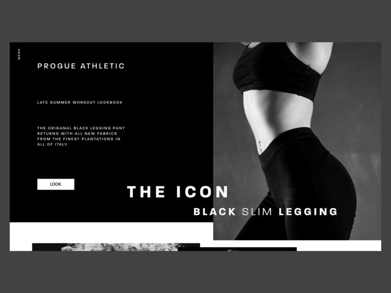 Progue Athletic Website athletics minimal branding photography creative xd dark mode dark black clean typography adobe xd web interface minimal website web design ux ui