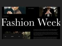 Fashion Week Article Webpage