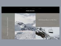 Park Resort Website Homepage