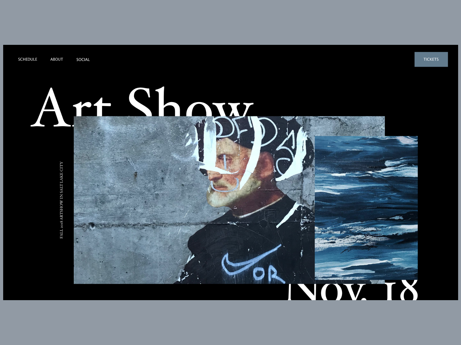 Art Show Landing Page