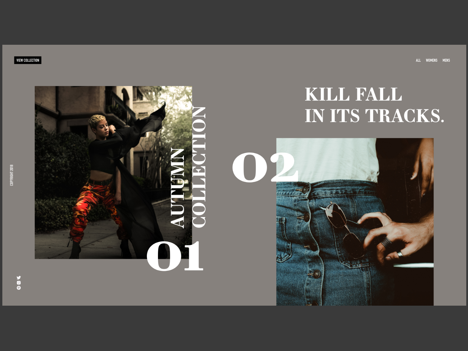 Kill Fall Fashion Line Website
