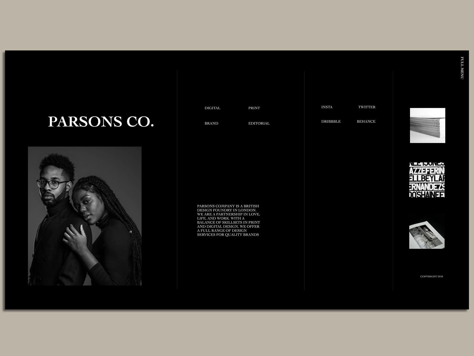 Parsons Co. Portfolio Website