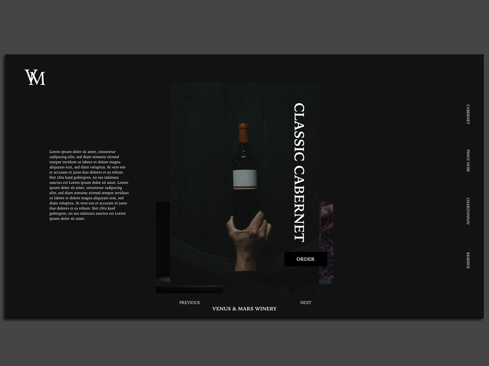 Venus & Mars Winery Website