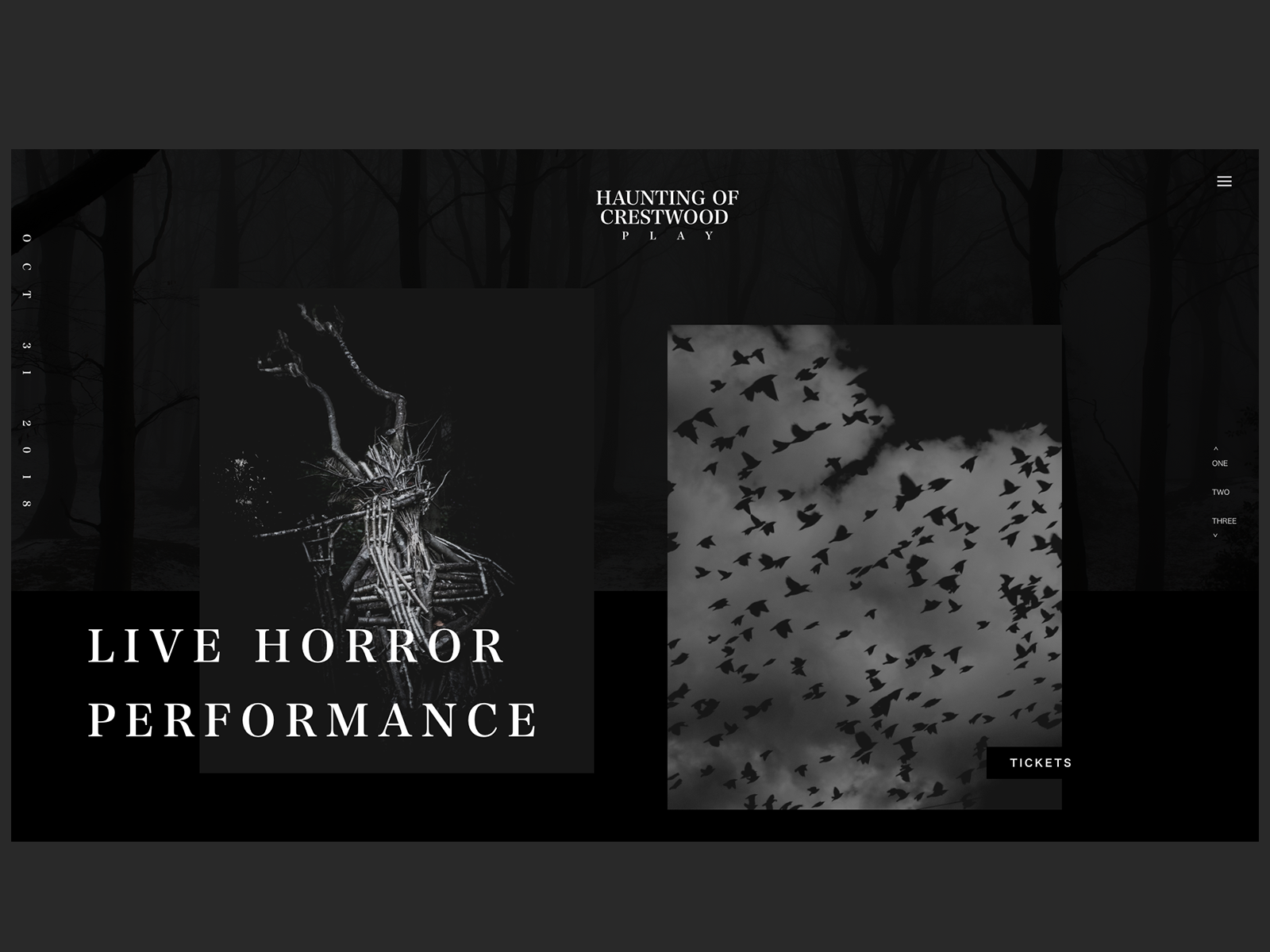 Haunting of Crestwood Play Website