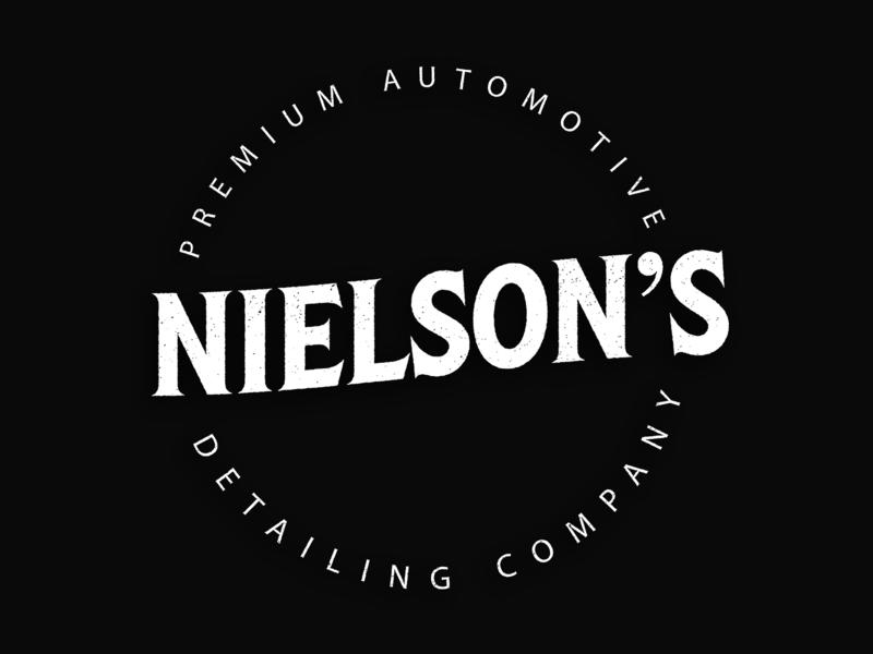 Nielson's Detailing Logo creative cloud adobe illustrator automotive logo car logo detailing logo badge logo vintage logo type art type custom type typography logo design logo type logo type daily