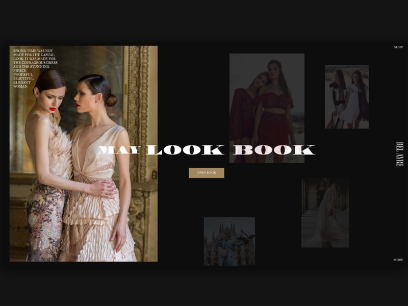 BEL AYRE Fashion Store Homepage fashion blog ecommerce fashion photography dark clean web typography adobe xd interface minimal website web design ux ui