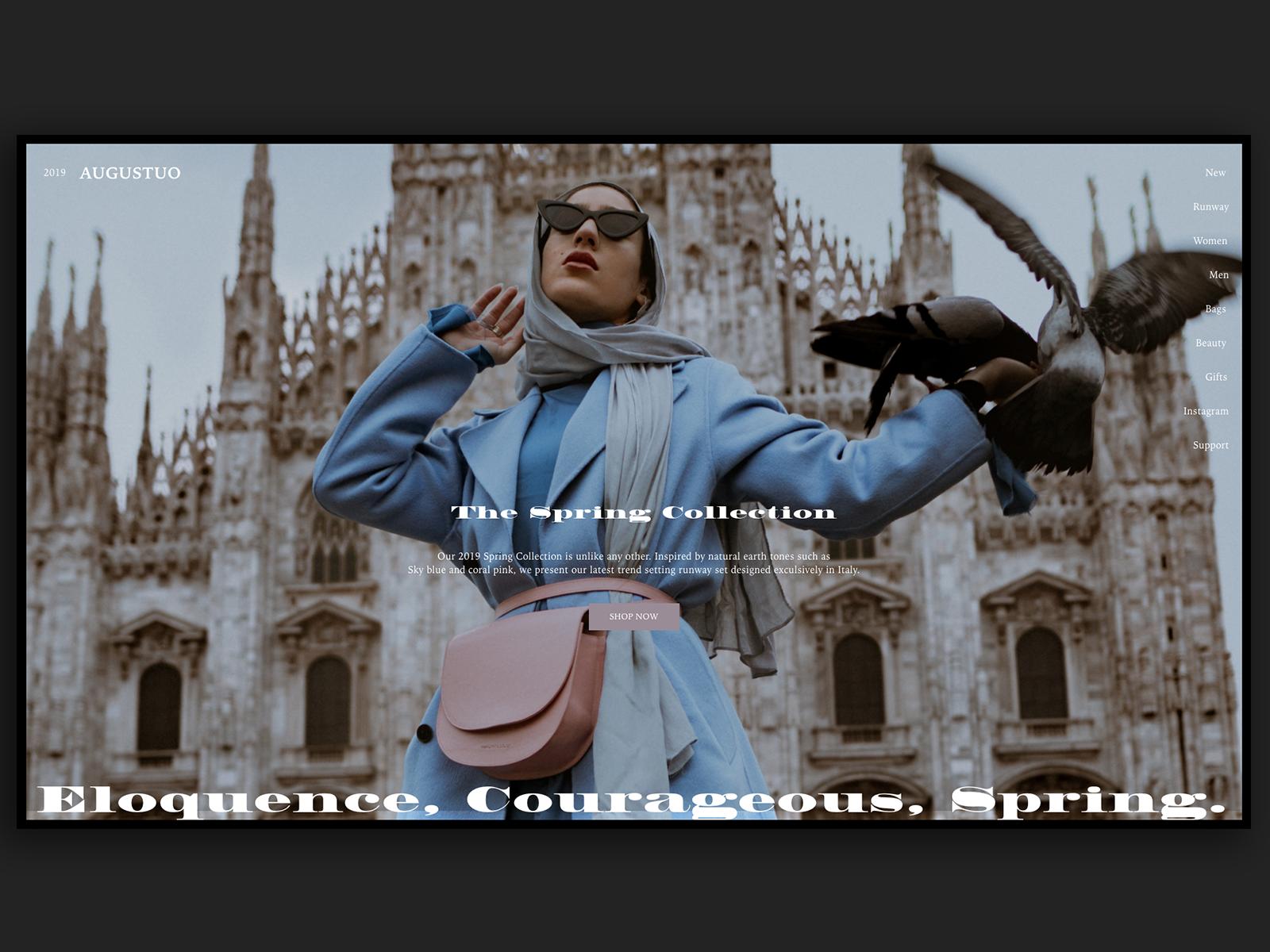 Augustuo Fashion Homepage