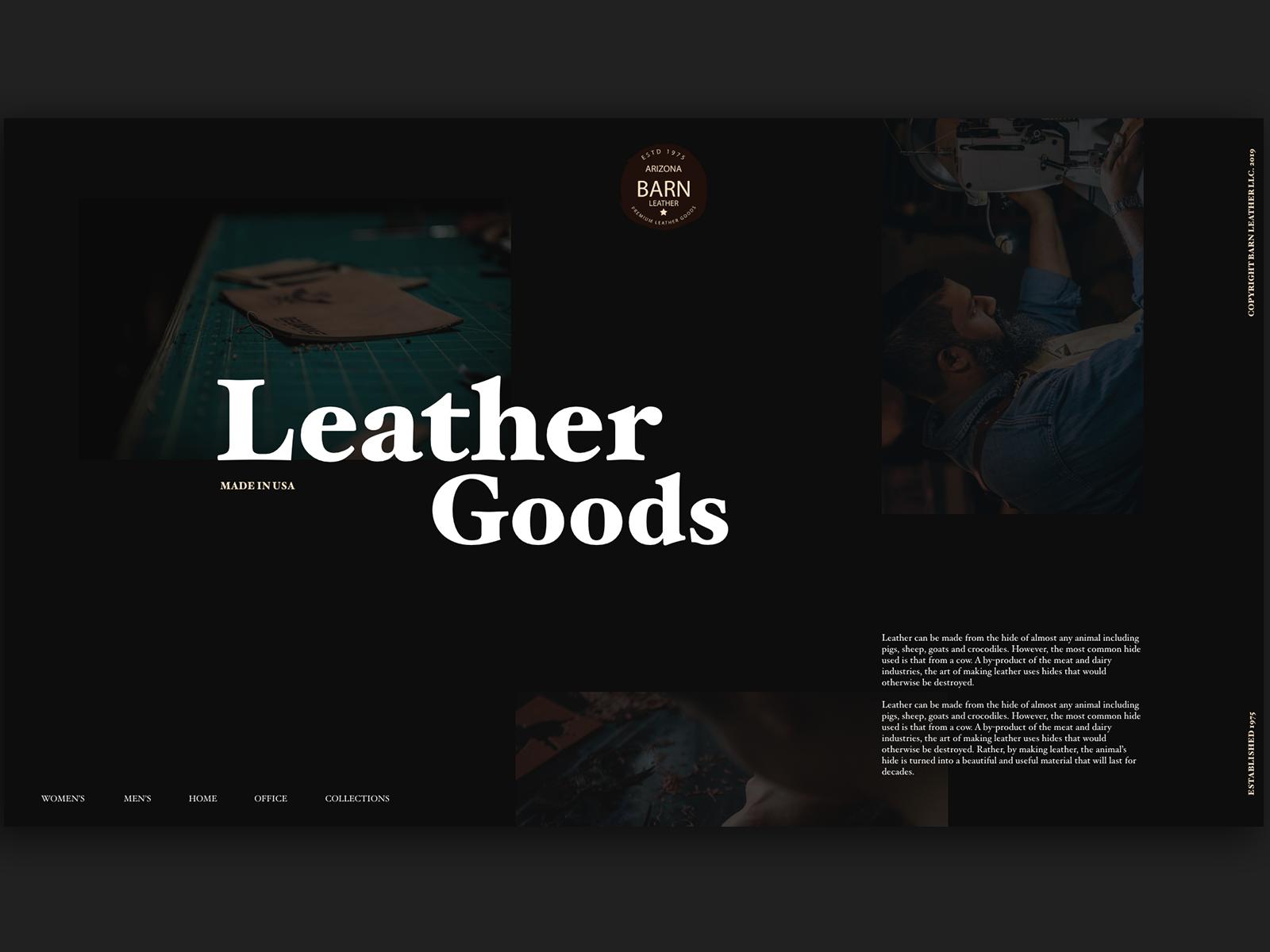 Barn Leather Goods Website