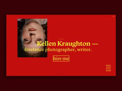 Photographer and Writer Portfolio Homepage